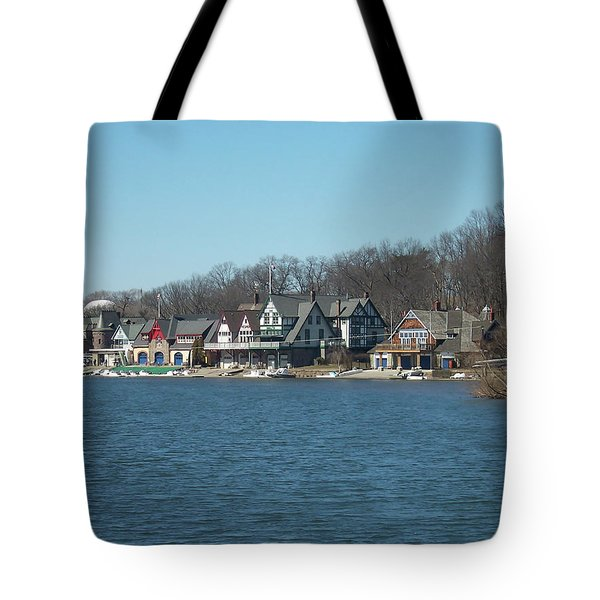 Tote Bag featuring the photograph Schuylkill River - Boathouse Row In Philadelphia by Bill Cannon