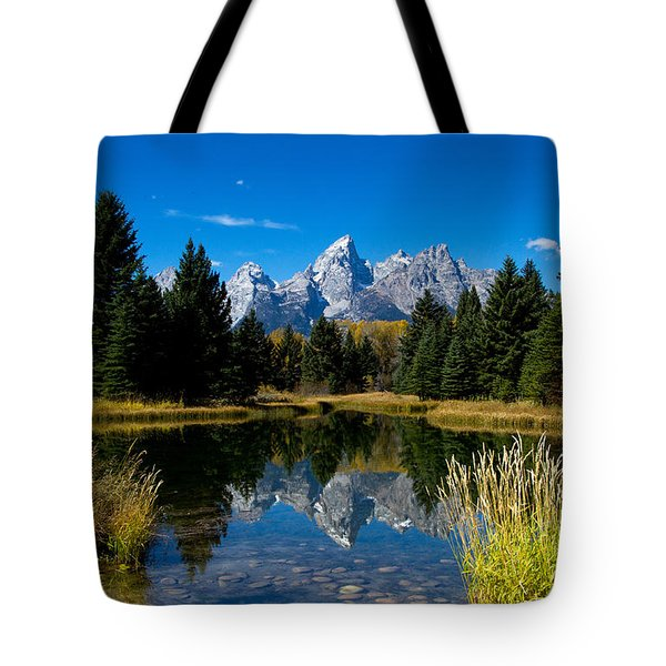 Schwabacher Landing Reflection Tote Bag