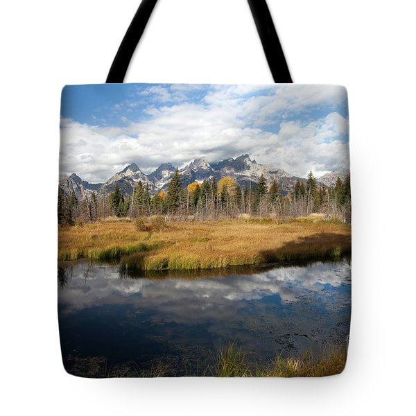 Schwabachers Landing, Grand Teton National Park Wyoming Tote Bag