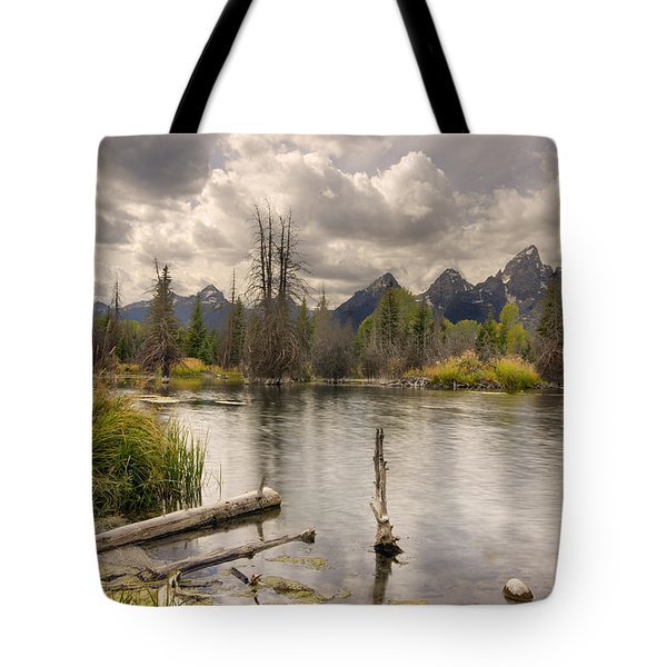 Tote Bag featuring the photograph Schwabachers Landing by John Gilbert