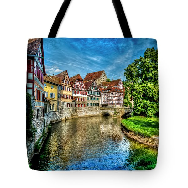 Tote Bag featuring the photograph Schwabish Hall by David Morefield
