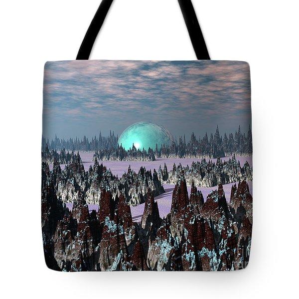 Sci Fi Landscape Tote Bag