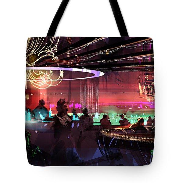 Sci-fi Lounge Tote Bag