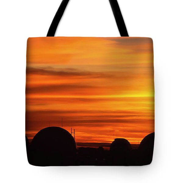 Science City Sunset Tote Bag
