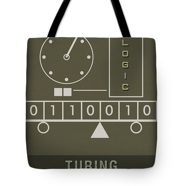 Science Posters - Alan Turing - Mathematician, Computer Scientist Tote Bag