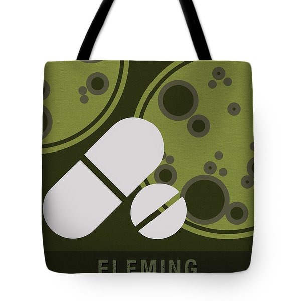 Science Posters - Alexander Fleming - Biologist, Pharmacologist Tote Bag