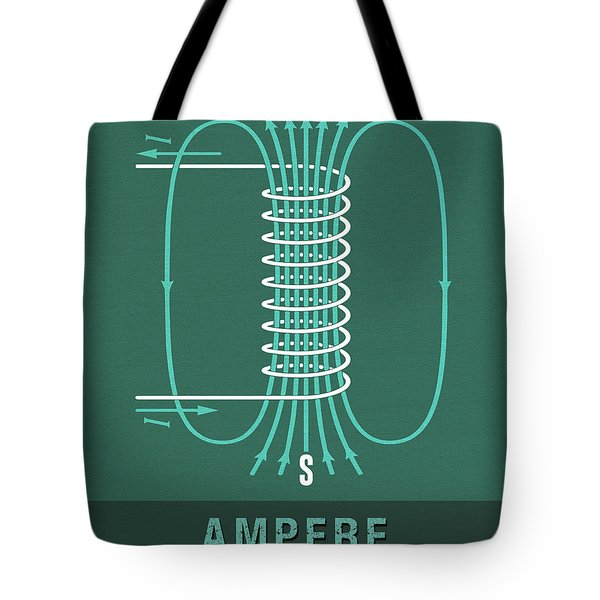 Science Posters - Andre Marie Ampere - Physicist, Mathematician Tote Bag
