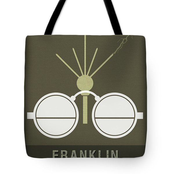 Science Posters - Benjamin Franklin - Scientist, Inventor, Statesman Tote Bag
