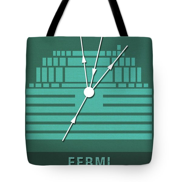 Science Posters - Enrico Fermi - Physicist Tote Bag