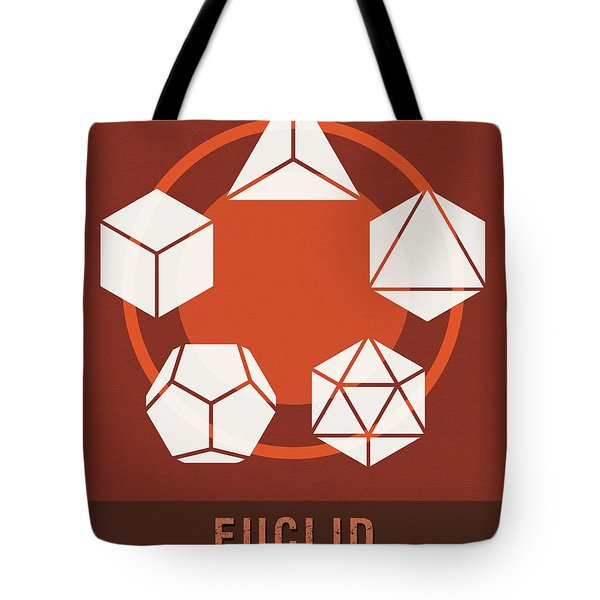 Science Posters - Euclid - Mathematician Tote Bag