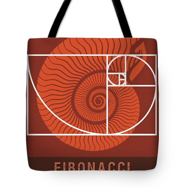 Science Posters - Fibonacci - Mathematician Tote Bag