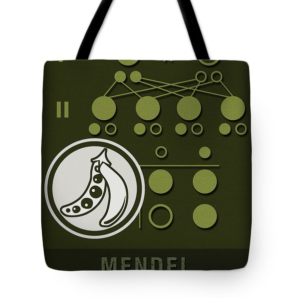 Science Posters - Gregor Mendel - Geneticist, Scientist Tote Bag