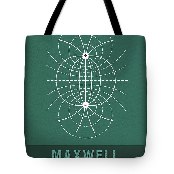 Science Posters - James Clerk Maxwell - Physicist Tote Bag