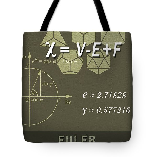 Science Posters - Leonhard Euler - Mathematician, Physicist, Engineer Tote Bag