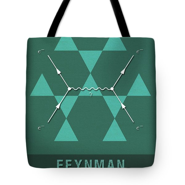 Science Posters - Richard Feynman - Theoretical Physicist Tote Bag