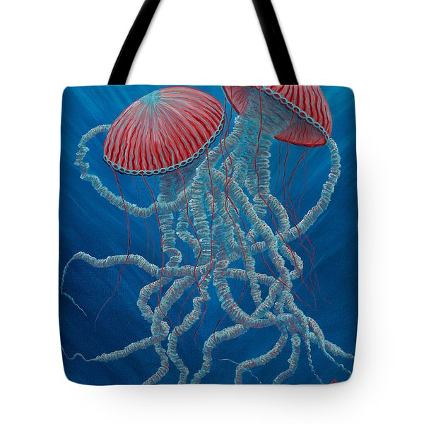Scifi Jellies Tote Bag by Rebecca Parker