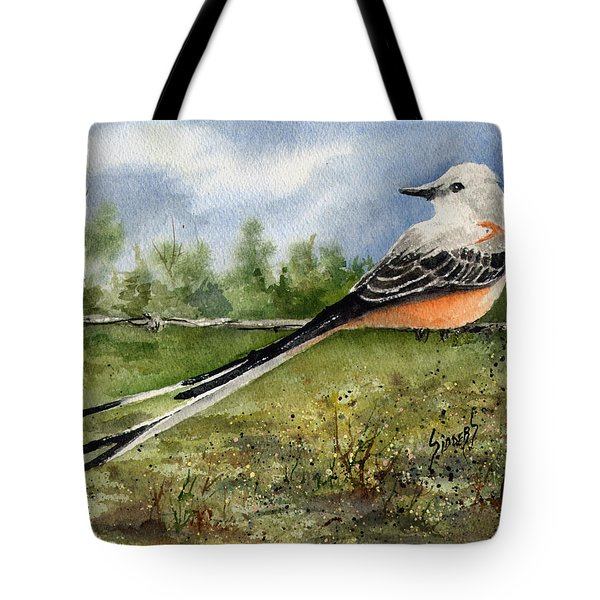 Scissor-tail Flycatcher Tote Bag by Sam Sidders