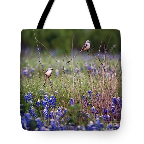 Scissor-tailed Flycatchers Tote Bag