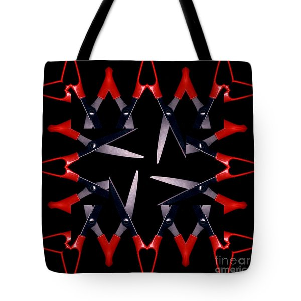 Tote Bag featuring the photograph Scissors by Elaine Teague