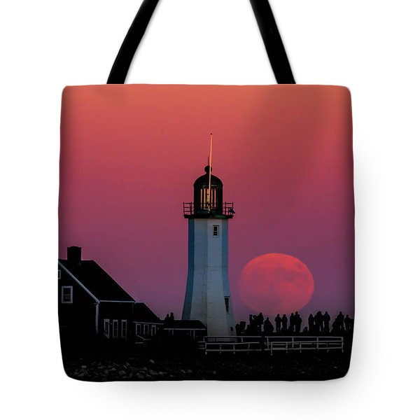 Scituate Supermoon Tote Bag