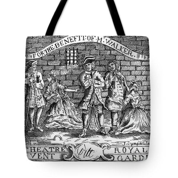 Scnene From The Beggar 's Opera By John Gay Tote Bag