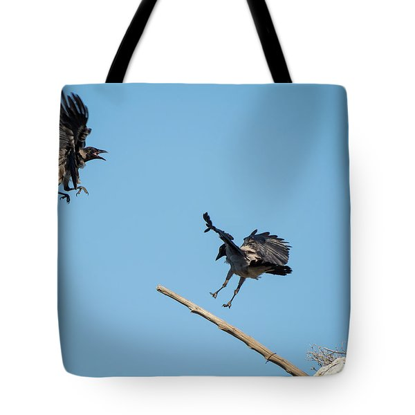 Scolding Crows Tote Bag