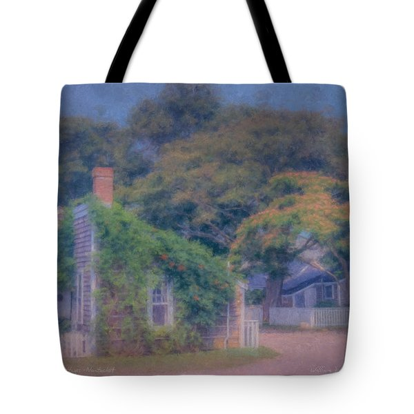 Sconset Cottages Nantucket Tote Bag