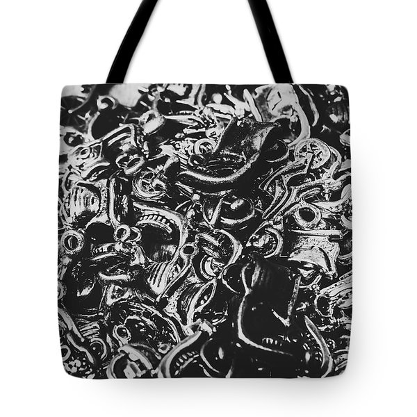 Scooter Mechanics Abstract Tote Bag