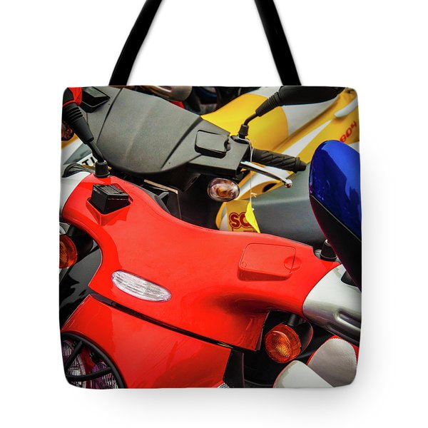 Tote Bag featuring the photograph Scooters II by Samuel M Purvis III