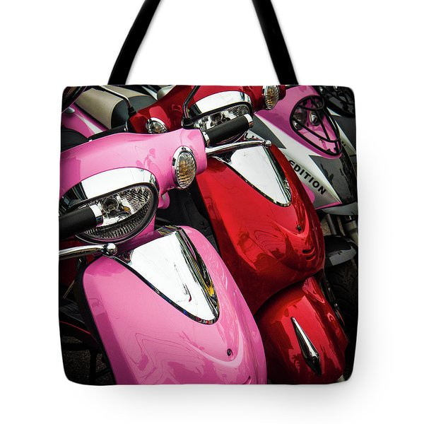 Tote Bag featuring the photograph Scooters by Samuel M Purvis III