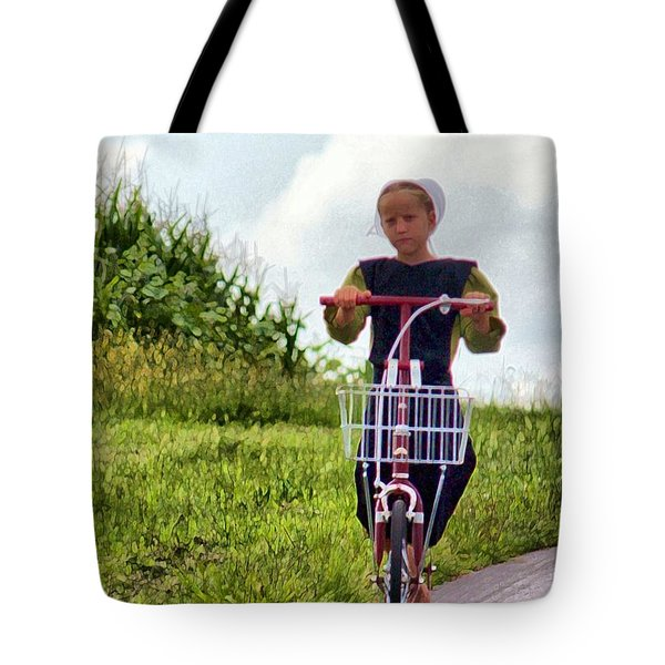 Tote Bag featuring the photograph Scootin' by Polly Peacock
