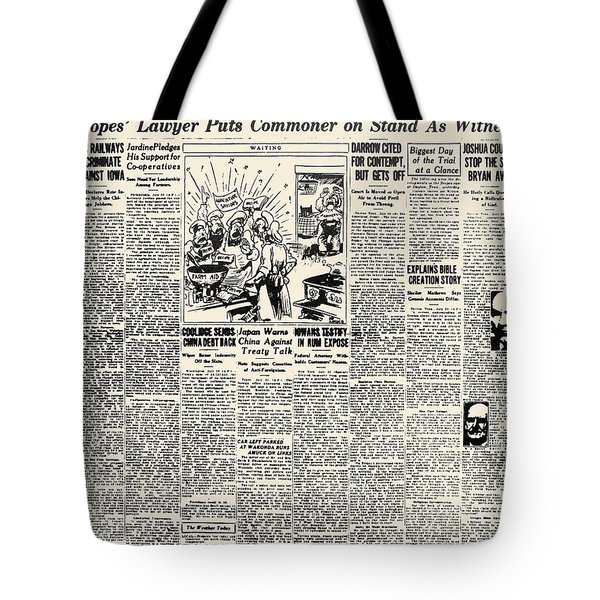 Scopes Trial, 1925 Tote Bag by Granger
