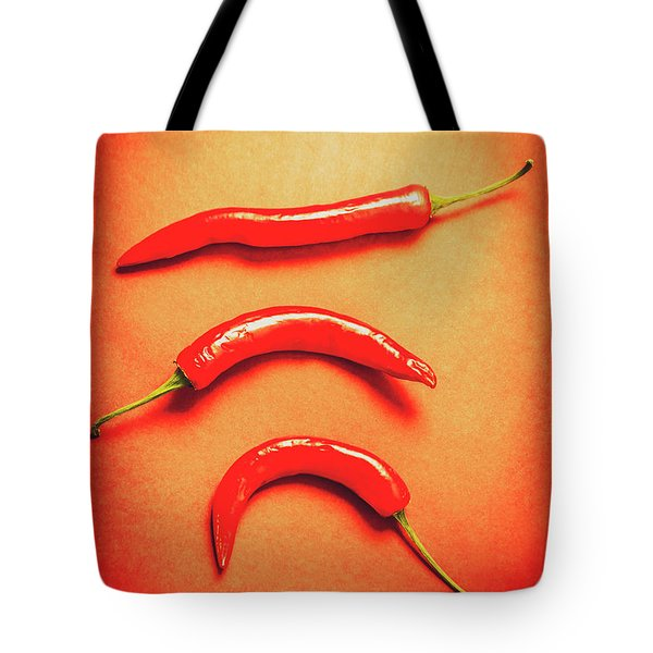 Scorching Food Background Tote Bag