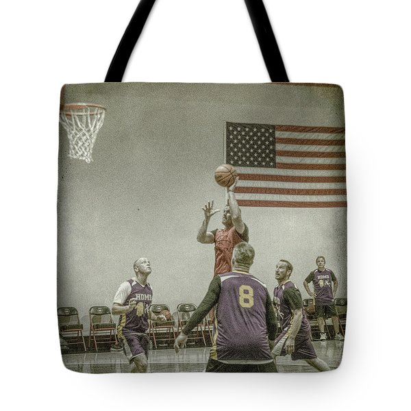Tote Bag featuring the photograph Scoring In The Lane by Ronald Santini