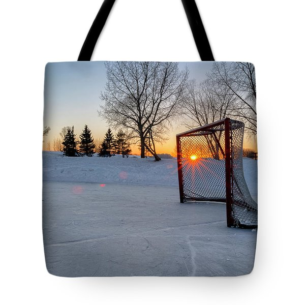 Tote Bag featuring the photograph Scoring The Sunset 2 by Darcy Michaelchuk