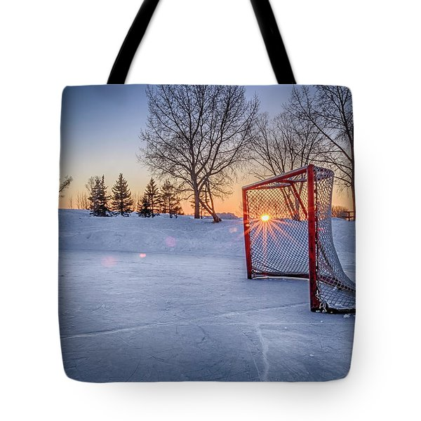Tote Bag featuring the photograph Scoring The Sunset 3 by Darcy Michaelchuk