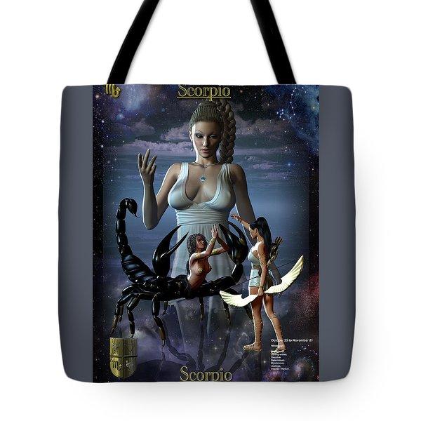 Scorpio Tote Bag by Joseph Soiza