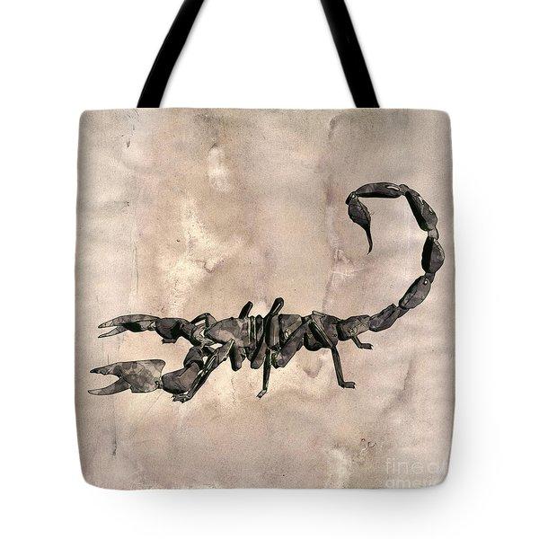 Scorpion Pop Art By Mary Bassett Tote Bag