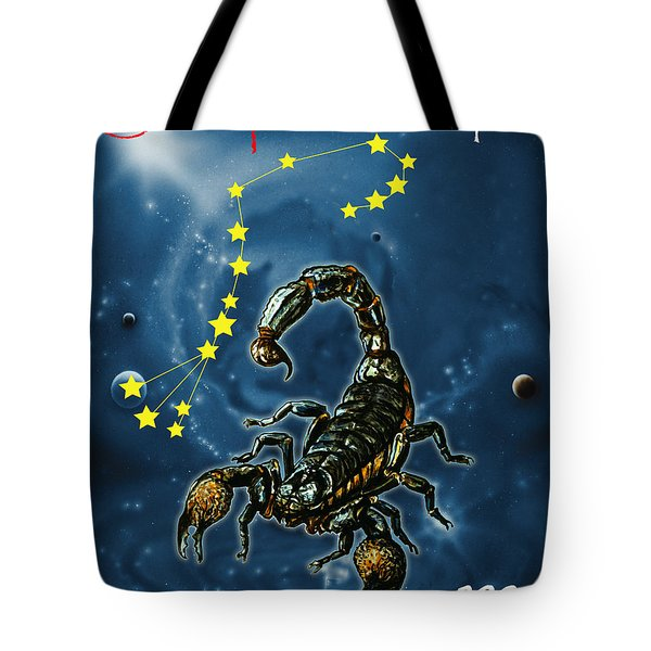Scorpius And The Stars Tote Bag
