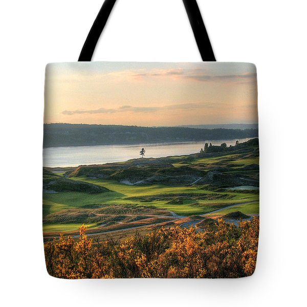 Scotch Broom -chambers Bay Golf Course Tote Bag by Chris Anderson