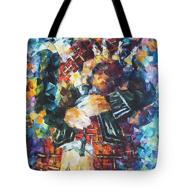 Scotish Cat Tote Bag by Leonid Afremov