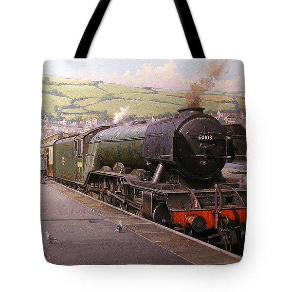 Scotsman At Kingswear Tote Bag