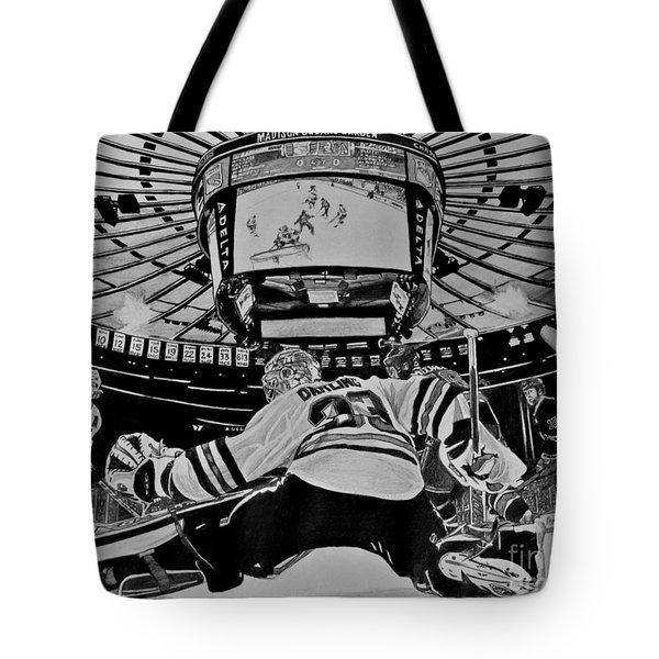 Scott Darling - First Nhl Shutout Tote Bag by Melissa Goodrich