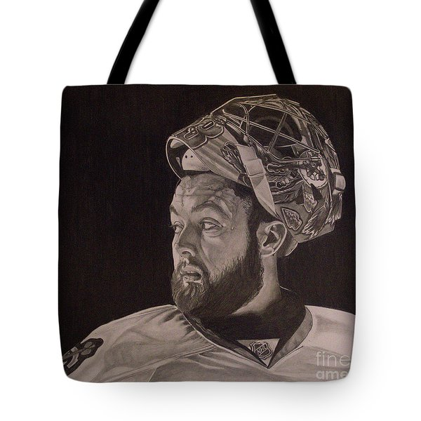 Tote Bag featuring the drawing Scott Darling Portrait by Melissa Goodrich