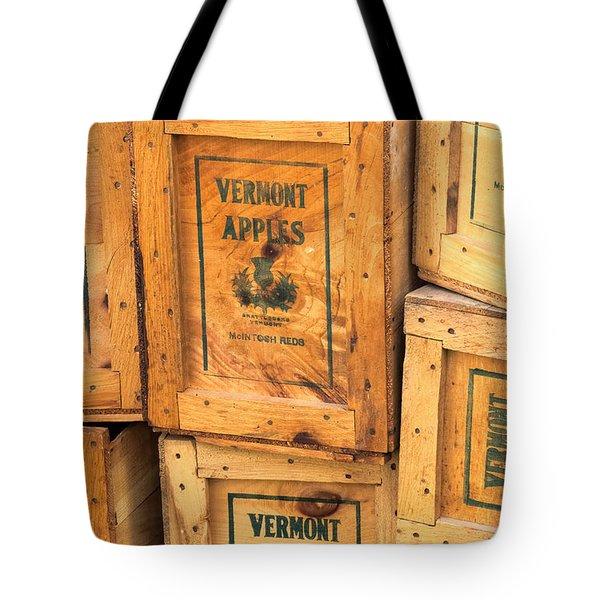 Scott Farm Apple Boxes Tote Bag
