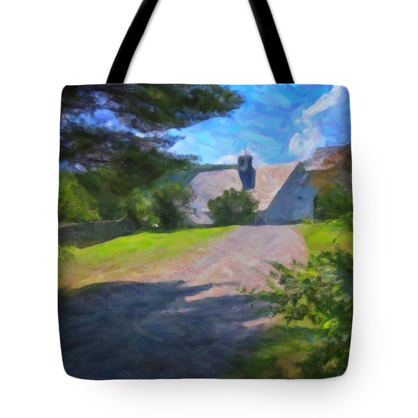 Tote Bag featuring the photograph Scott Farm Summer by Tom Singleton