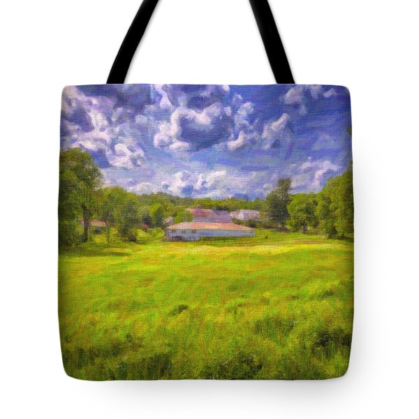 Tote Bag featuring the photograph Scott Farm by Tom Singleton