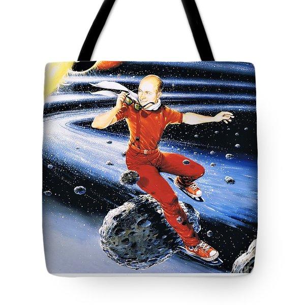 Scott Hamilton Skates The Stars Tote Bag