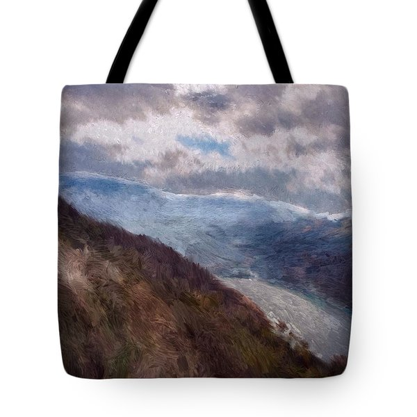 Tote Bag featuring the painting Scottish Landscape by Mark Taylor