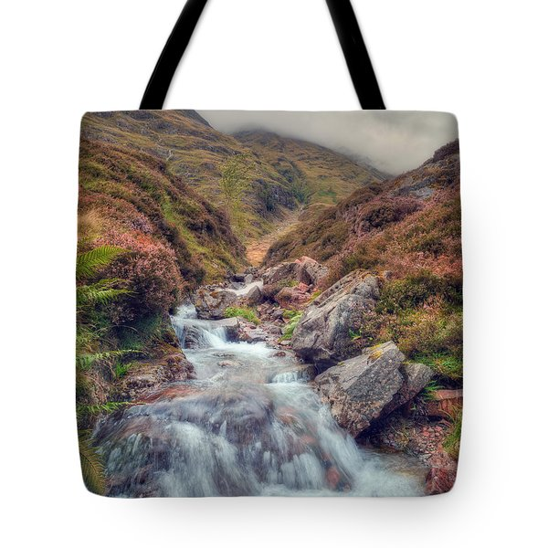 Scottish Mountain Stream Tote Bag